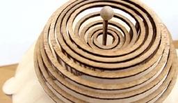 牛人用圓木環做成的「水滴」效果