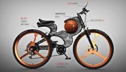 靈感源於喬丹的籃球自行車