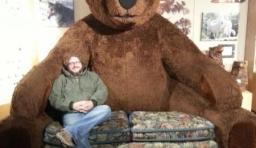 超巨型泰迪熊沙發