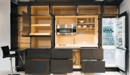 隱形廚房(Stealth Kitchen),藏在牆裡的全功能廚房
