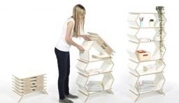 摺疊式置物架