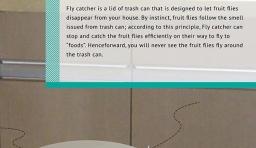 可捕捉蒼蠅的垃圾桶