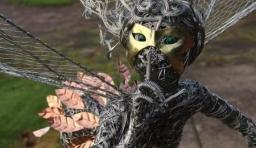 精湛的鐵絲藝術雕塑