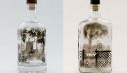 玻璃瓶煙熏藝術