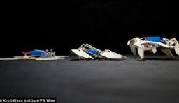 蝴蝶形紙折機器人 可自我摺疊并行走