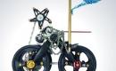 自行車零件拼成的藝術品
