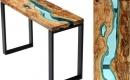 原木玻璃「河流」飯桌