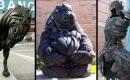 15個廢舊輪胎做的雕塑