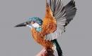 栩栩如生的紙鳥作品