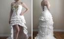 衛生紙打造的禮服
