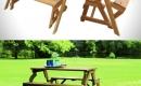 方便的長椅與長桌