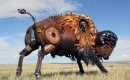 金屬動物雕塑