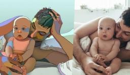 23位藝術家翻畫家庭照,送給老婆最感人的生日禮物