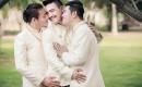 泰國三名男子因太相愛結婚,三人婚紗照看醉網友