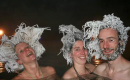 加拿大泡溫泉 秒秒鐘頭髮變冰雕