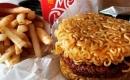 韓國樂天(拉麵漢堡)推出  網路紛紛出現曬漢堡照