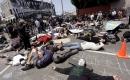 洛杉磯民眾「躺屍」示威 抗議警察射殺流浪漢